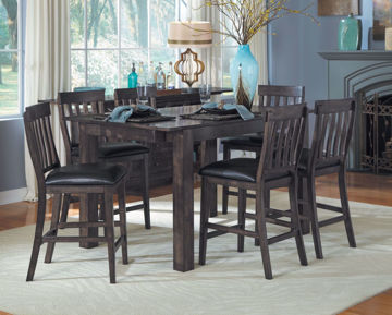 Picture of Mariposa Warm Grey 6-Chair Counter Set