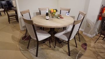 """Picture of Martina 52"""" Round Table and 6 Eleanor Chairs"""