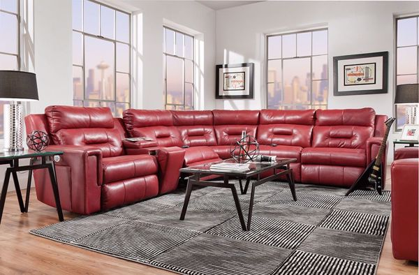 Picture of Excel Leather Sectional