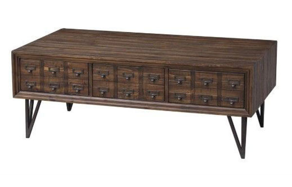 Picture of Card Catalog Cocktail Table