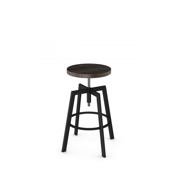 Picture of Architect Backless Wood Seat Screw Stool