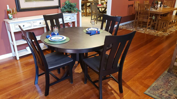 """Picture of Cosmopolitan 48"""" Table and 4 Chairs"""